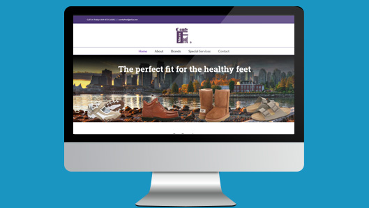 comfy Feet Website