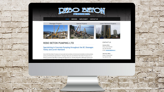 Rebo Beton Website