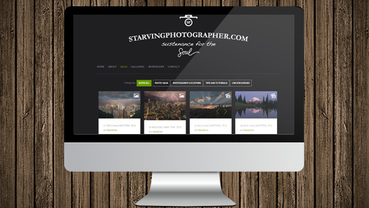 Starving photographer website
