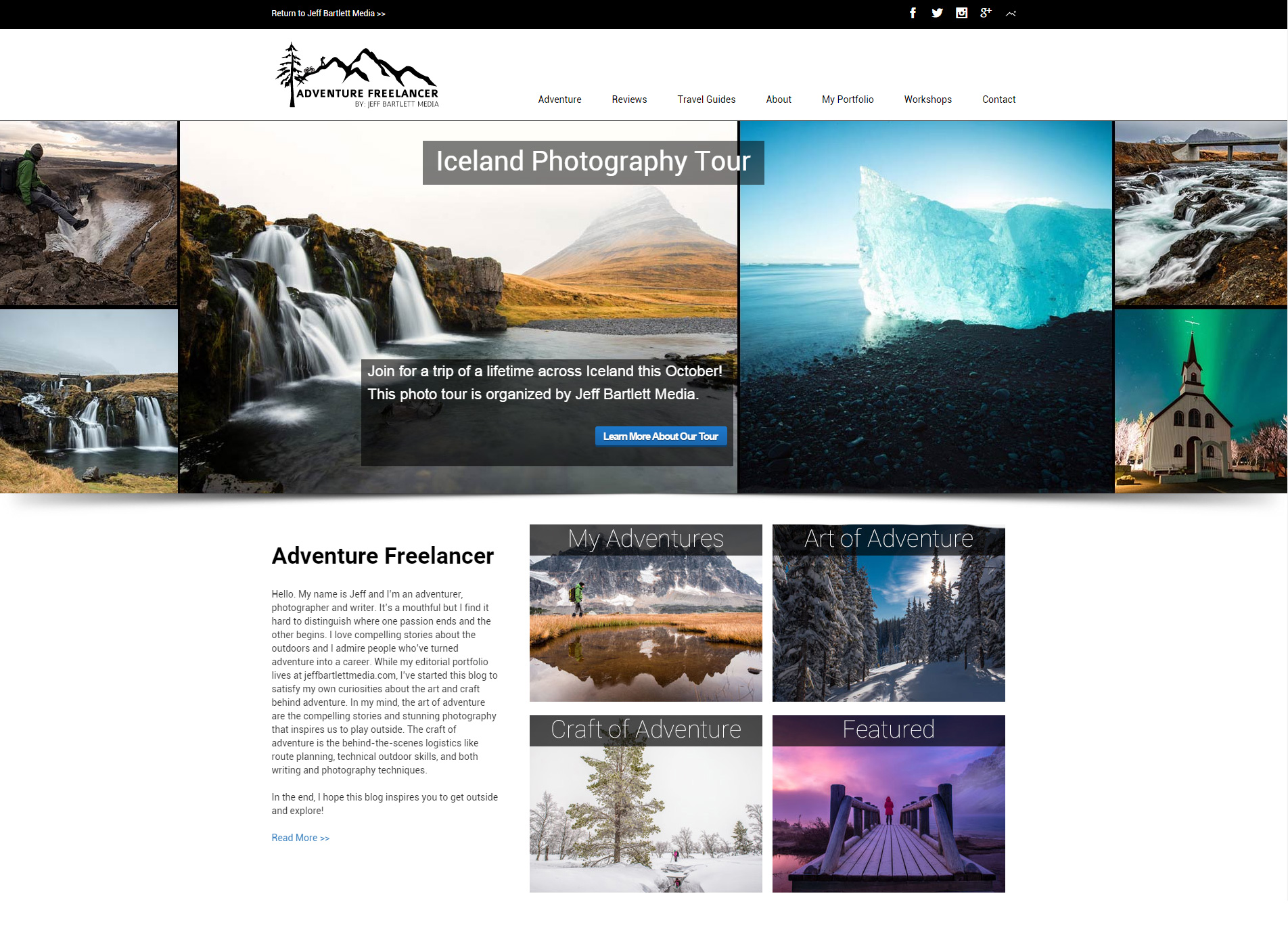 Adventure Freelancer Website