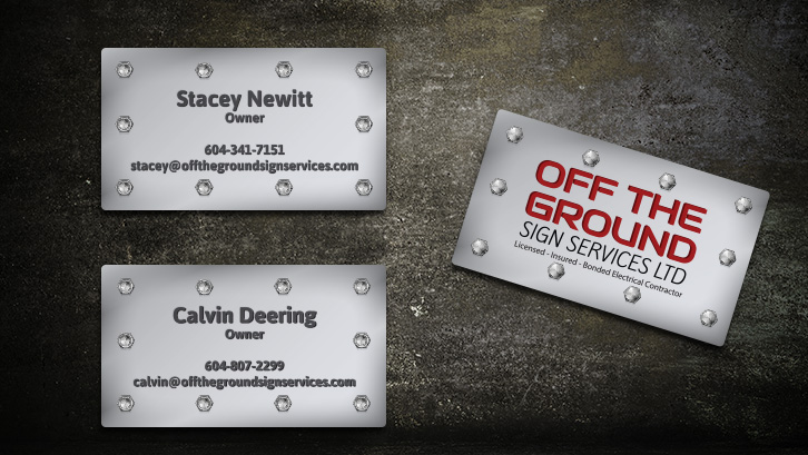 Off The Ground sign Services Ltd Business Cards