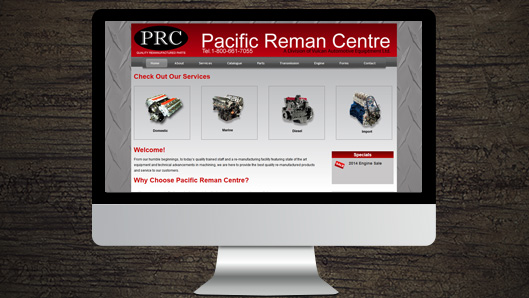 Pacific Reman Centre website